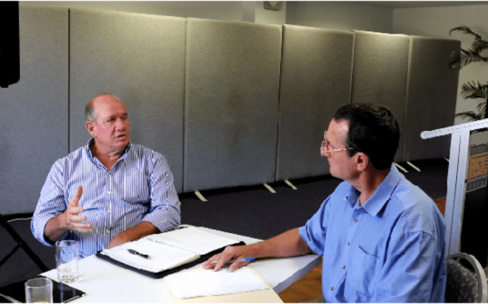 """Chris Brooks (Southern Riverina Irrigators Chairman) Video Interview. """"Don't ever give up""""."""