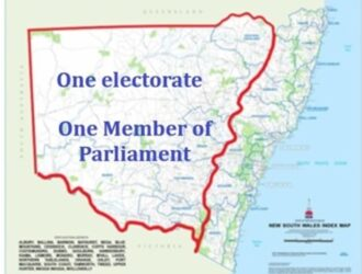 Country Electorates Expand – Again. On the inevitable way to One Member of Parliament west of the Great Dividing Range.
