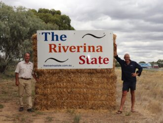 Riverina State Road Sign with Martin Cincotta